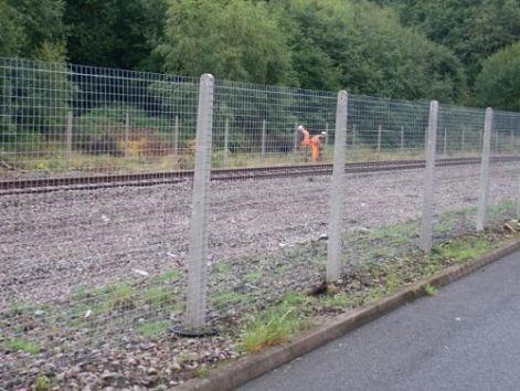 Hegesztett háló kerítés